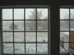 Our snow fall looking out the bonus room window